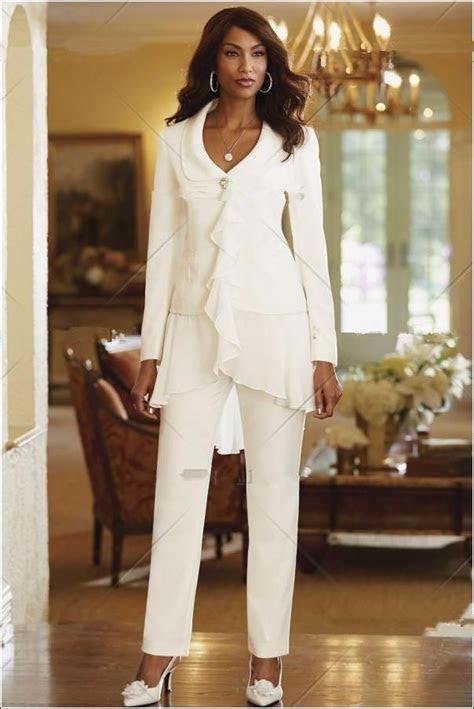 stunning chiffon women white slim fit pant suits lady