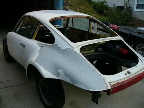 Sell Used 1972 Porsche 911 T Non Sunroof Coupe Rolling Shell