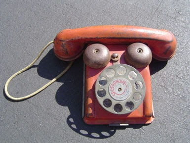 telephone, toy, vintage