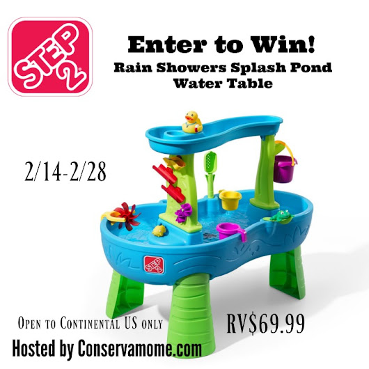 Step2 Rain Showers Splash Pond Water Table Giveaway!! (ends 2/28) - Africa's Blog