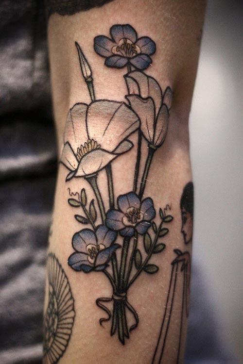 Forget Me Not Blue Flower Tattoo Best Tattoo Ideas Gallery
