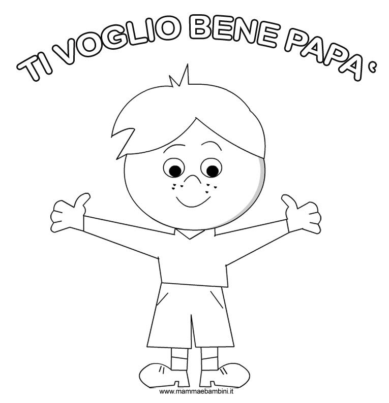Disegno Per Festa Del Papà Da Stampare E Colorare Mamma E Bambini