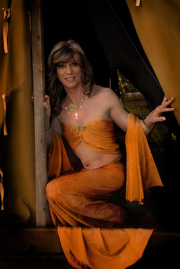 Transvestite in a harem