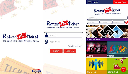 Return my ticket Mobile Application