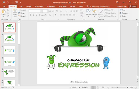 Animated Character Expressions PowerPoint Template
