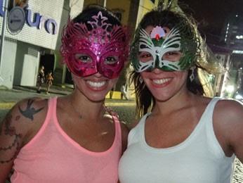 Aline Bezerra e Daniele Alessandra (Foto: Luka Santos/G1)