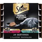 Sheba Perfect Portions Cuts in Gravy Multipack Salmon & Tuna Wet Cat Food, 2.6 oz., 12 Twin Packs, 31.2 OZ