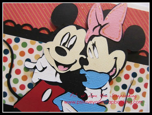 Mickey Mouse Die Cut - PS I Love You