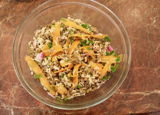 Zesty Brown Rice & Lentil Salad with Lime Dressing — MealDiva