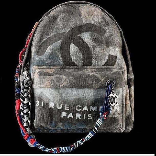 Bag Chanel Bag Graffiti Backpack Graffiti Chanel Backpack Wheretoget