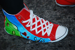 Wear your kicks with a touch of creativity