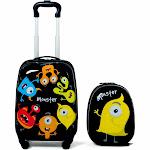 "2 Pcs Kids Luggage Set 12"" Backpack & 16"" Rolling Suitcase"