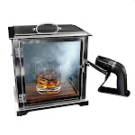 Crafthouse by Fortessa Glass Smoking Box with Handheld Smoker