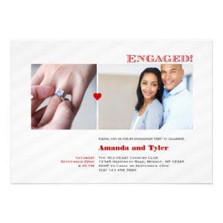 Modern Photo Engagement Party Invitation