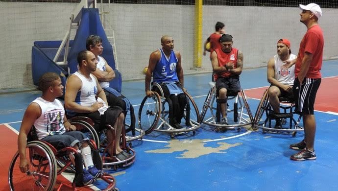 Basquete Sobre Rodas de Prudente, treinamento, Adapp (Foto: Ronaldo Nascimento / GloboEsporte.com)
