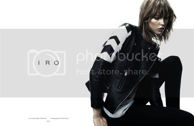 Karlie Kloss for IRO fall winter 2013 campaign by Claudia Knoepfel and Stefan Indlekofer