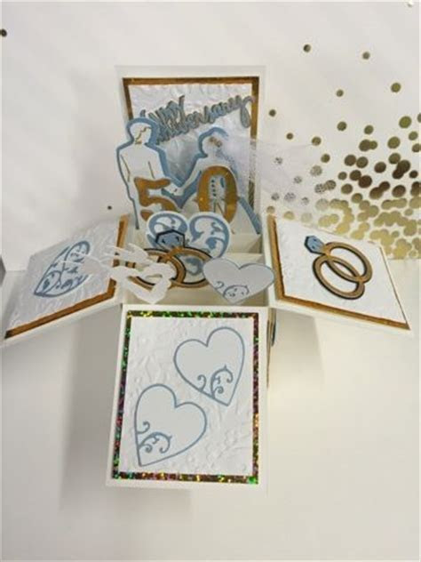 50th Anniversary Pop Up Box Card   Handmade Cards by