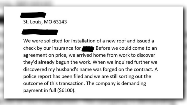 Company Accused Of Replacing Roofs Without Homeowner S Permission Ksdk Com