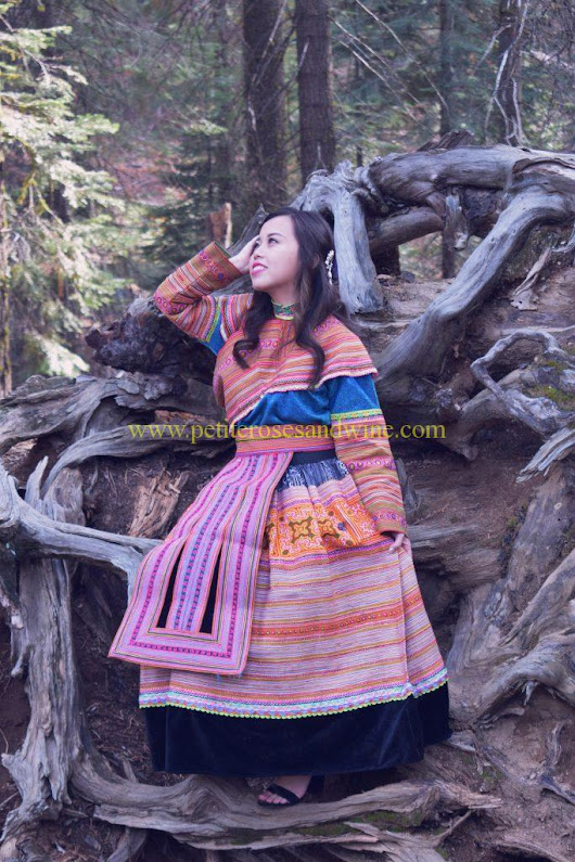 Hmong Outfit Series :: Colorful Appliqué & Flower Hmong | ROSES AND WINE