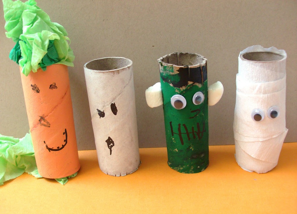 Halloween Toilet Paper Roll Monsters Craft Preschool Education For