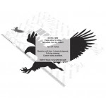 Eagle about to strike Silhouette Yard Art Woodworking Pattern - fee plans from WoodworkersWorkshop® Online Store - eagles,birds,wildlife,animals,African,savannah,yard art,painting wood crafts,scrollsawing patterns,drawings,plywood,plywoodworking plans,woodworkers projects,workshop blueprints