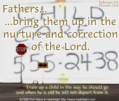 Inspirational illustration of Ephesians 6:4