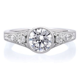 Platinum Vintage Bezel Set Engagement Ring   Long's Jewelers