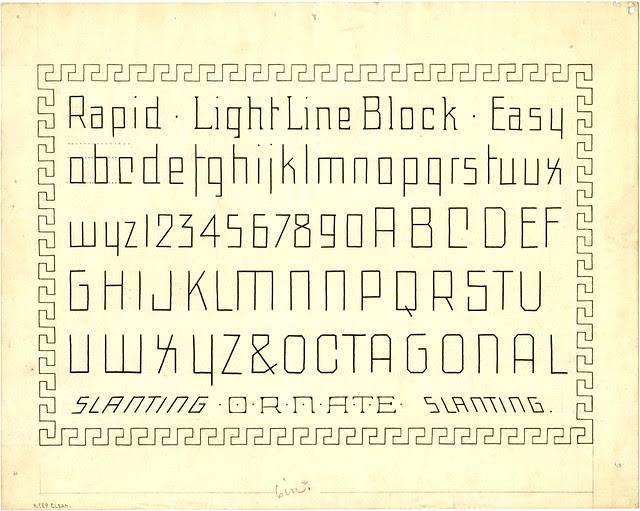 Light Line Block Marking or Skeleton typeform