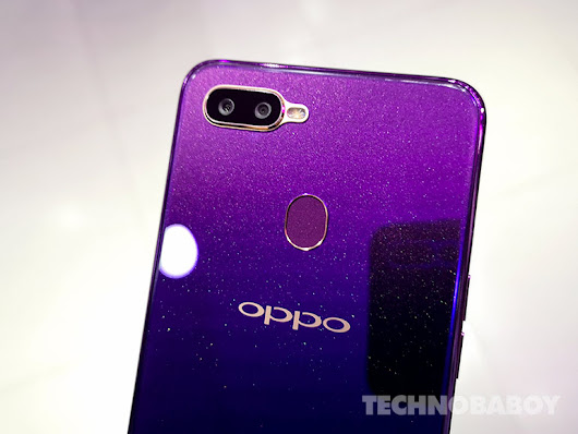 Live photos of OPPO F9 Starry Purple - Technobaboy Philippines