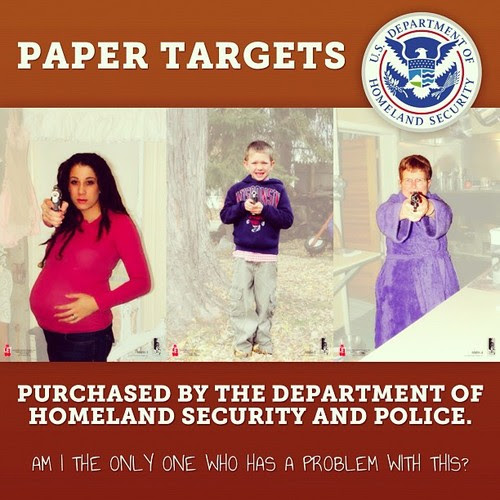 CONOZCA un Los Nuevos Terroristas de Acuerdo Con El DHS.  Se Trata De Una hoja de Práctica de tiro utilizado Por los Agentes del DHS.