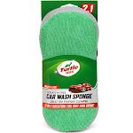 "4""x10"" 2-in-1 Microfiber Wash Sponge Green - Turtle Wax"