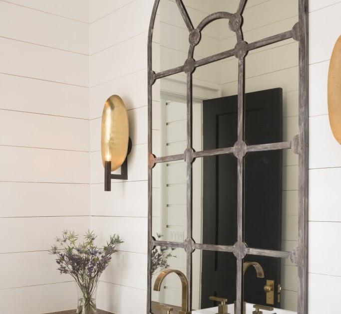 Antique mirror bathroom - Content In A Cottage Antique Window Mirror In A Bathroom