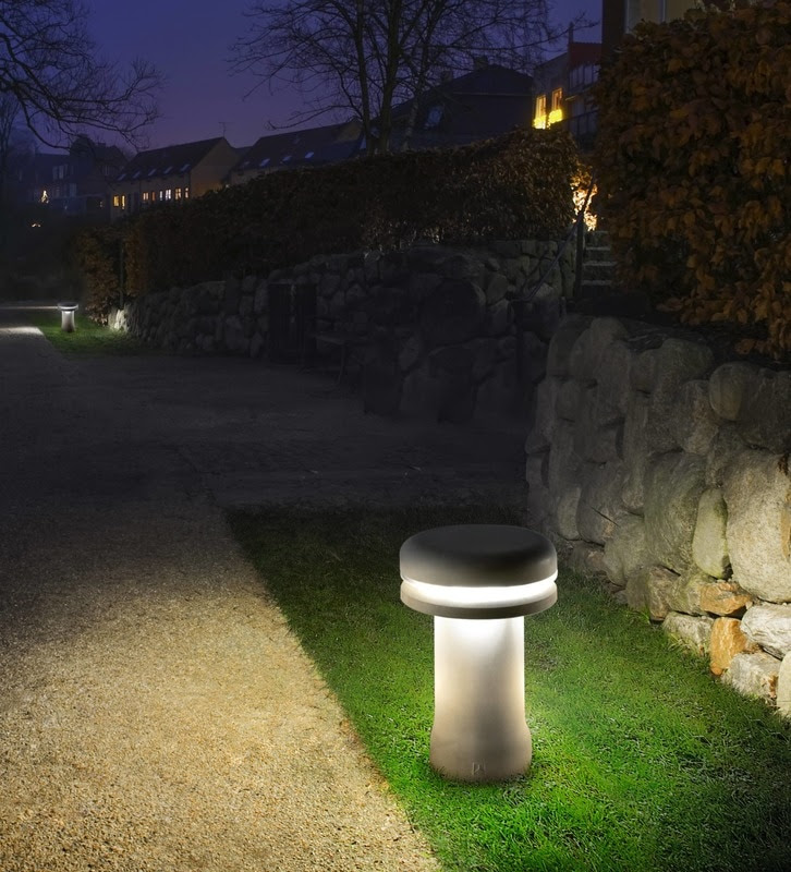LED Bollard Lights Modern design concrete garden lamp Walking Hondel Lighting HONDEL LIGHTING