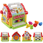 Multi-function House Shape Cognitive Matching Toy With Music Children's Toy Set