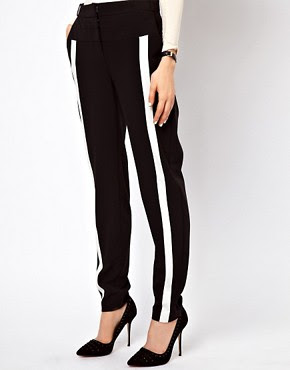 Image 4 of ASOS Trousers In Monochrome