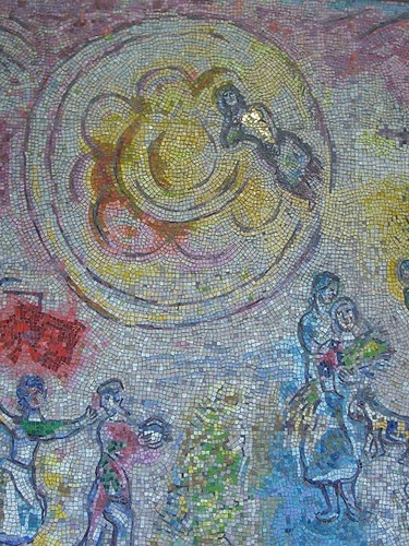 Mosaic art source chagall mural chicago for Chagall mural chicago