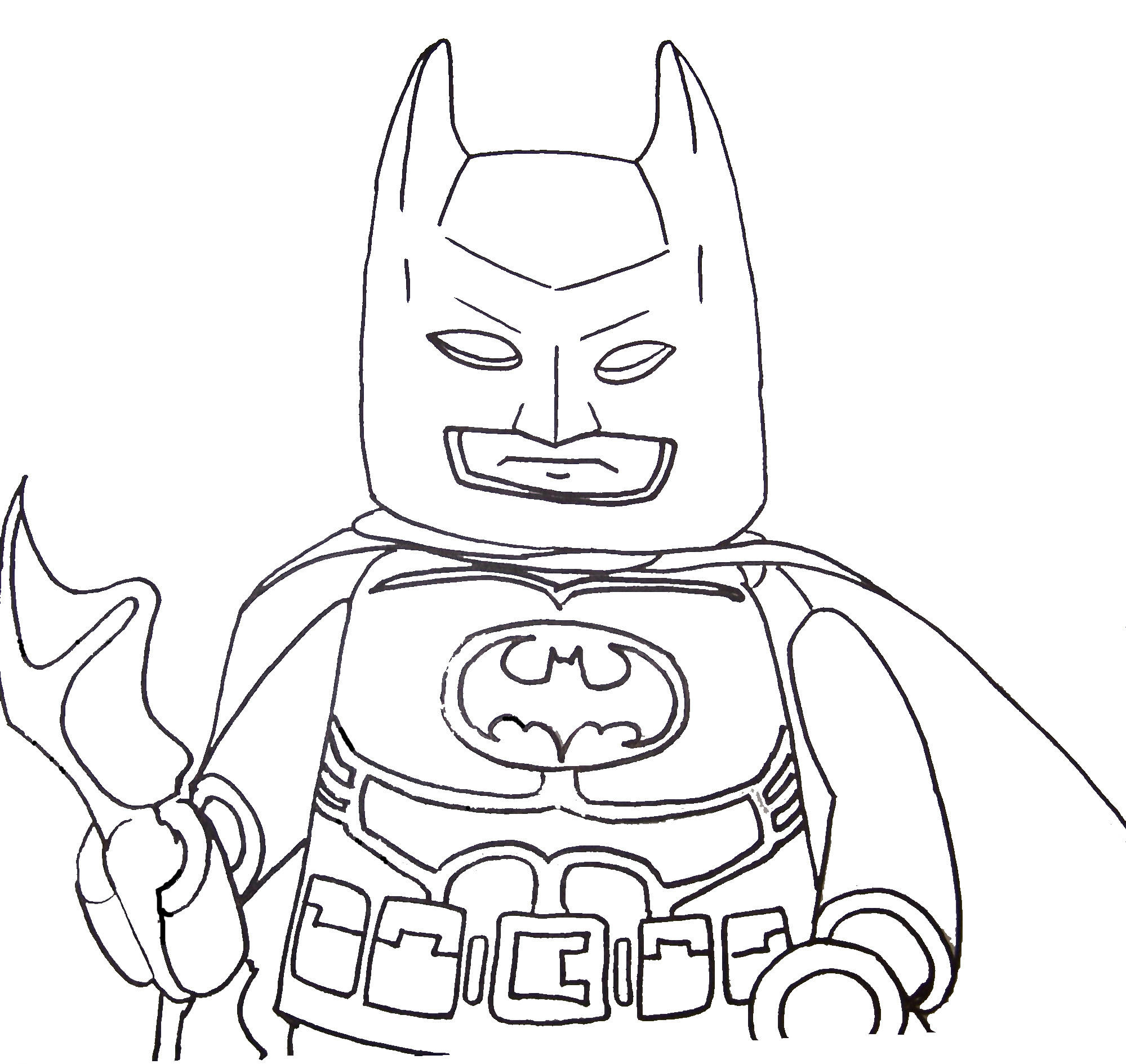 Kid Batman Coloring Page Image to print