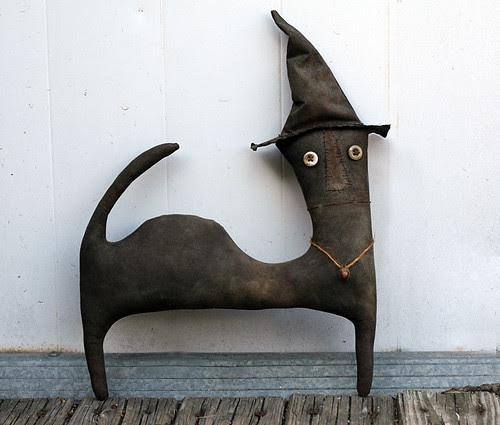 Extreme Primitive Halloween Cat by oldworldprimitives.