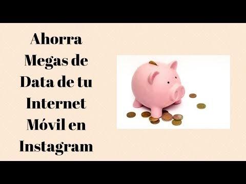 Ahorrar datos con la aplicación Instagram