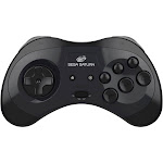 SEGA Saturn Bluetooth Wireless Controller Pad Gamepad for PC Mac Android Switch - Black