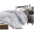 Blue Ridge Home Fashions Microfiber Down Alternative Comforter, Platinum, Twin