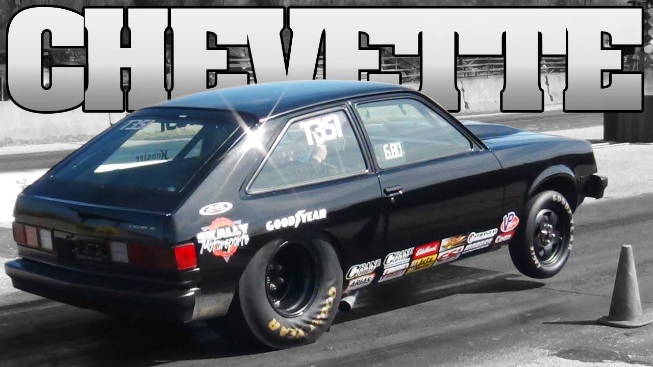 Black V8 Chevette Drag Racing Tristate Dragway 2012 Youtube