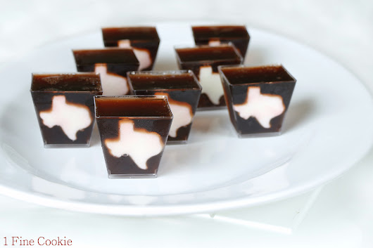Texas Dr. Pepper and Whiskey Jello Shots