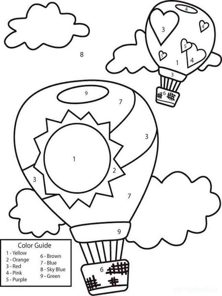 Learning Colors coloring pages. Download and print ...
