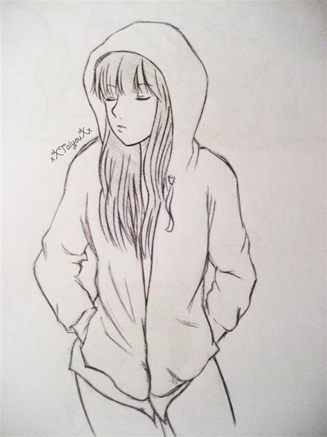 pic  anime girl  hoodie hoodie girl  xxtaiyouxx