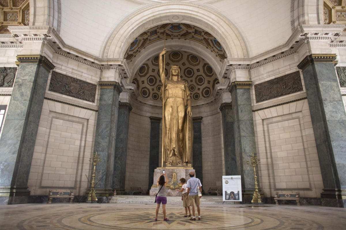 La Estatua de la República, found inside the Capitol building, is the world's third-largest undercover statue.