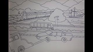 Aneka Gambar Mewarnai Gambar Mewarnai Kereta Api Untuk Viewinviteco