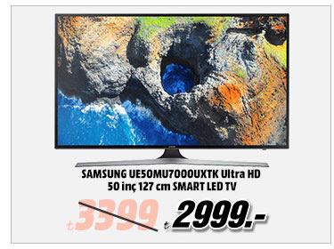 SAMSUNG UE50MU7000UXTK Ultra HD 50 inç 127 cm SMART LED TV 2999TL