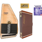 Oscar Schmidt 21 Chord Acoustic/Electric Autoharp, Flame Maple Top, OS11021FNE w/Hard Case, OS11021FNE AC449PACK