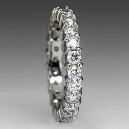 diamond eternity wedding band ring   white gold